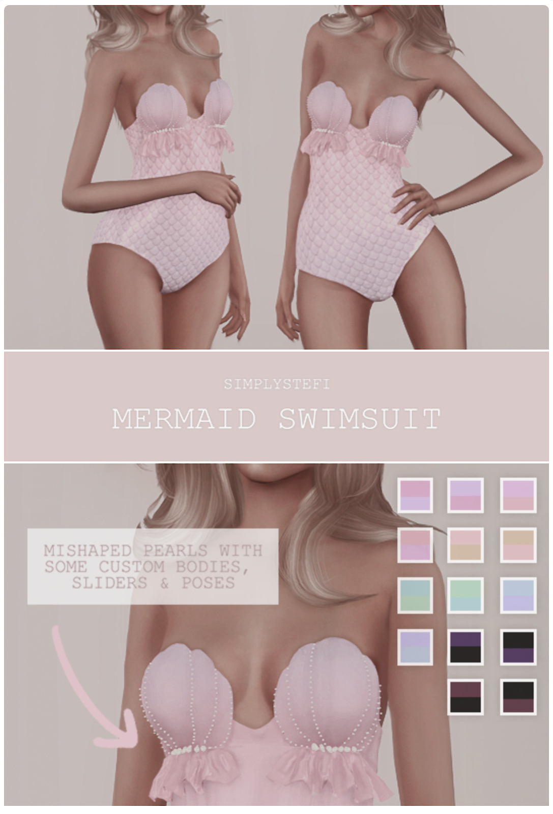 The Sims 4 Mermaid CC | Perfect for Island Living