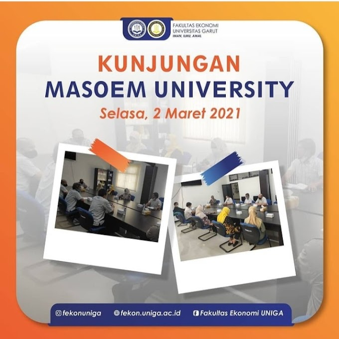 Pariwisata UNIGA, Fakultas Ekonomi Universitas Garut, Menyambut Kunjungan MASOEM UNIVERSITY