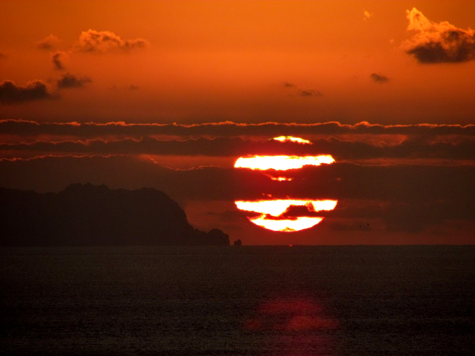 sunrise on the Desertas islands
