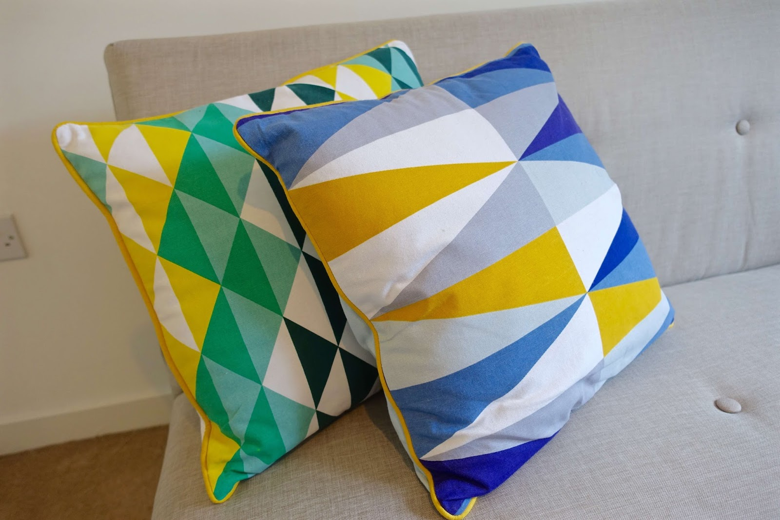 art deco style cushions from cargo home shop