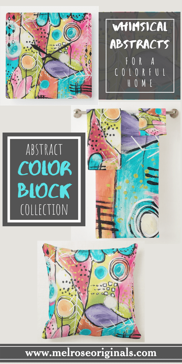 prodcuct grid of items from abstract color block home accents collection