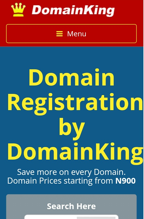 How to purchase Domain name from Domainking.ng