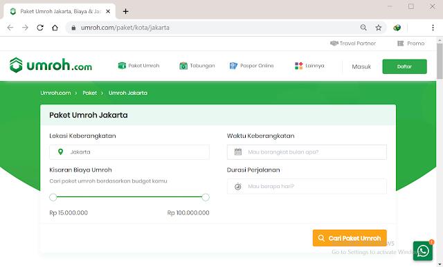 Pesan Paket Umroh Jakarta melalui Umroh.com