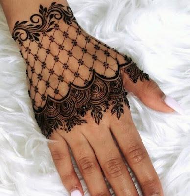 Gambar henna tangan pengantin