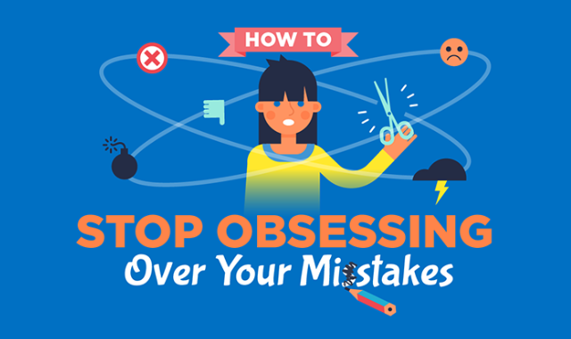 Let go of your mistakes while Working #infographic