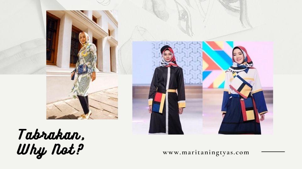fashion dengan tabrakan motif