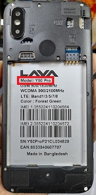 Lava Y50 Pro Flash File