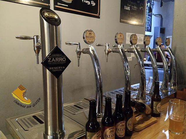 Grifos de cerveza artesana Patanel y vermut