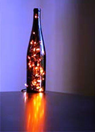 DIY Hiasan Botol Bercahaya dengan Led lamp