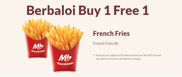 Berbaloi Puasa Buy 1 Free 1 French Fries