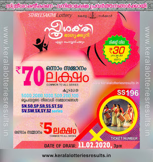"KeralaLotteriesresults.in, ""kerala lottery result 11.02.2020 sthree sakthi ss 196"" 11th February 2020 result, kerala lottery, kl result,  yesterday lottery results, lotteries results, keralalotteries, kerala lottery, keralalotteryresult, kerala lottery result, kerala lottery result live, kerala lottery today, kerala lottery result today, kerala lottery results today, today kerala lottery result, 11 2 2020, 11.2.2020, kerala lottery result 11-2-2020, sthree sakthi lottery results, kerala lottery result today sthree sakthi, sthree sakthi lottery result, kerala lottery result sthree sakthi today, kerala lottery sthree sakthi today result, sthree sakthi kerala lottery result, sthree sakthi lottery ss 196 results 11-02-2020, sthree sakthi lottery ss 196, live sthree sakthi lottery ss-196, sthree sakthi lottery, 11/2/2020 kerala lottery today result sthree sakthi, 11/02/2020 sthree sakthi lottery ss-196, today sthree sakthi lottery result, sthree sakthi lottery today result, sthree sakthi lottery results today, today kerala lottery result sthree sakthi, kerala lottery results today sthree sakthi, sthree sakthi lottery today, today lottery result sthree sakthi, sthree sakthi lottery result today, kerala lottery result live, kerala lottery bumper result, kerala lottery result yesterday, kerala lottery result today, kerala online lottery results, kerala lottery draw, kerala lottery results, kerala state lottery today, kerala lottare, kerala lottery result, lottery today, kerala lottery today draw result,"