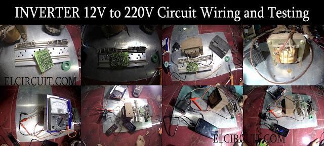 Wiring and Testing inverter 12V to 220V