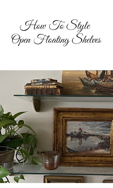 how to style open floating shelves