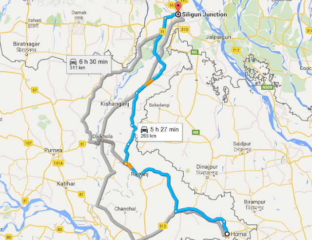 Backpacks With Tridib - Balurghat map