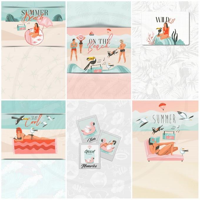 Chill Summer FREEBIE wallpaper set