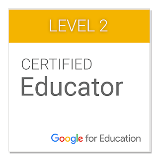 Google for Education Certified Educator Level 2, 2014-Present