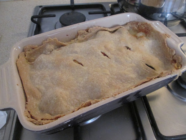 Homemade pie by Sophie and Lily