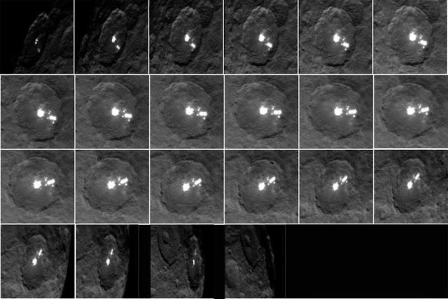 pontos brilhantes no planeta anão Ceres