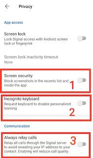 Signal app ki khash feature kya kya hai? Signal app feature?