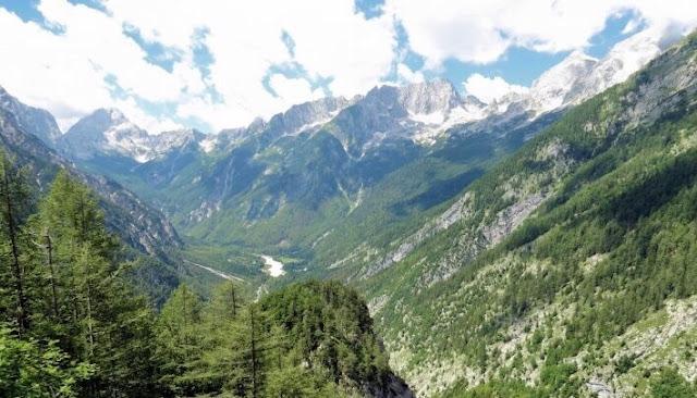 Vrsic mountain pass view - Triglav National Park, Slovenia