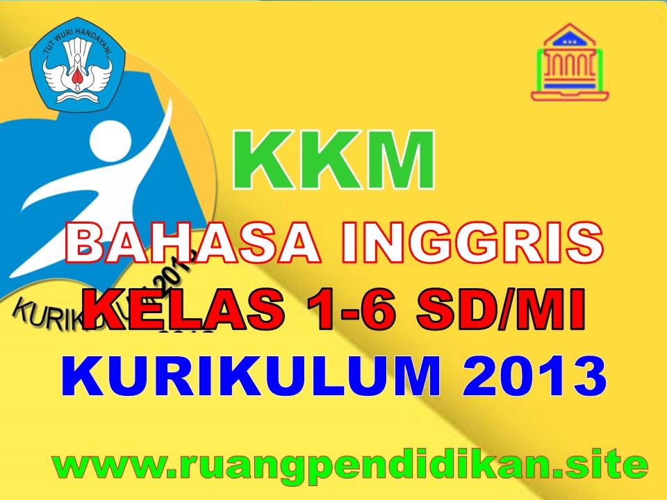 KKM Bahasa Inggris Kelas 1 2 3 4 5 6 SD/MI
