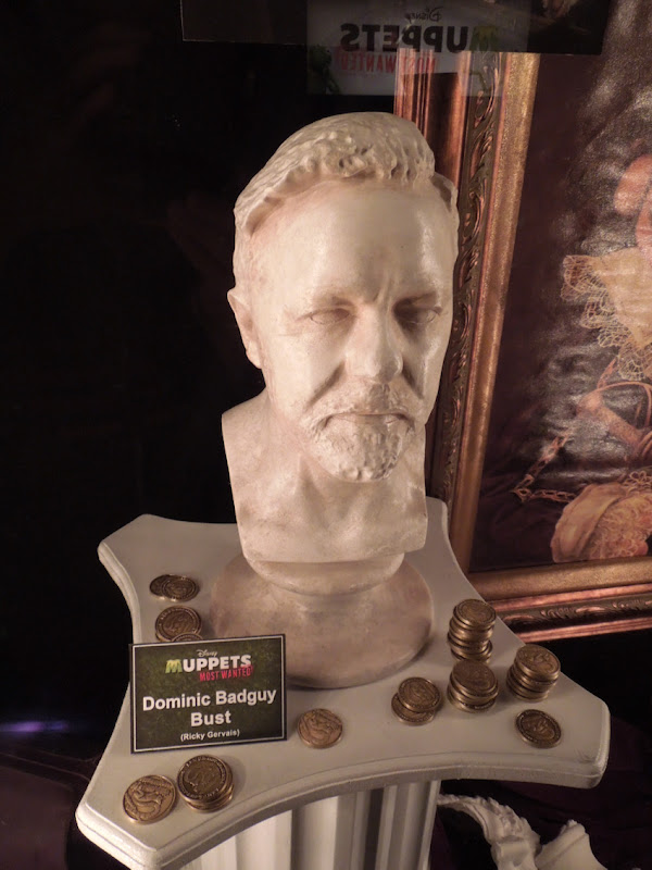 Ricky Gervais bust Muppets Most Wanted
