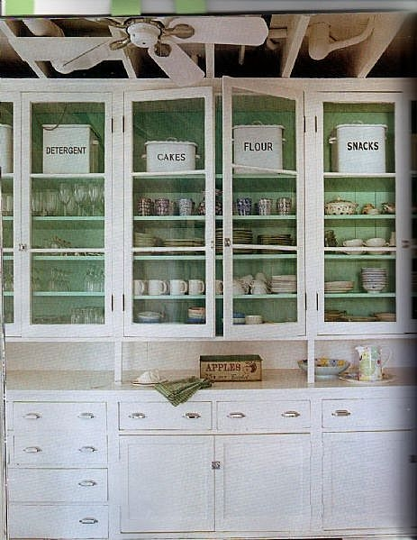 What's Inside Those Glass Front Kitchen Cabinets?