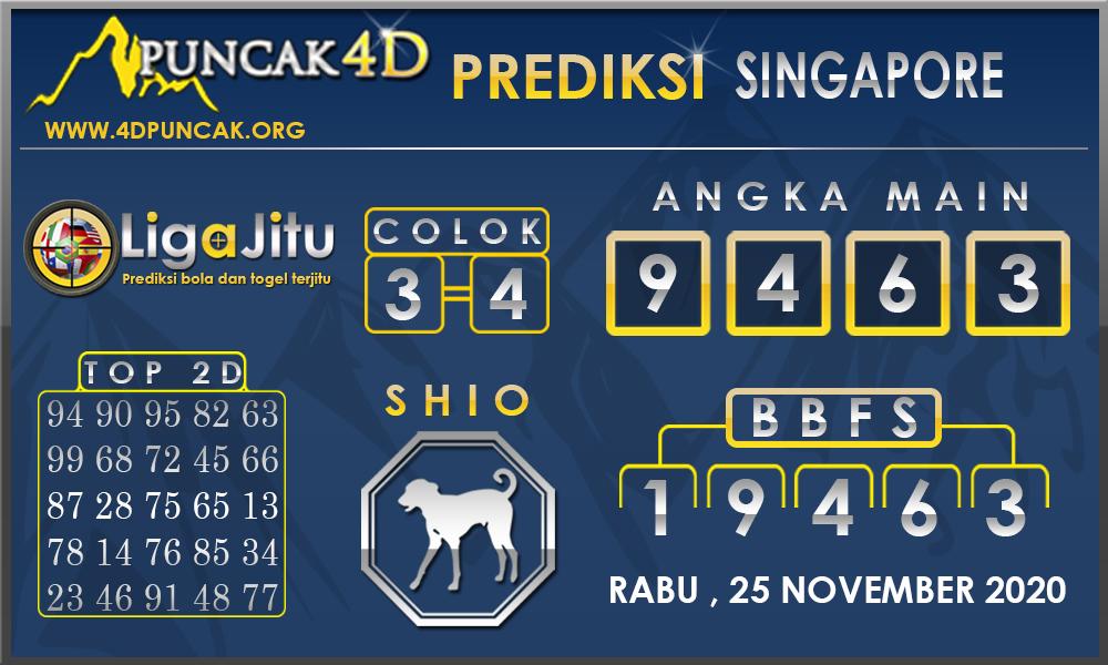 PREDIKSI TOGEL SINGAPORE PUNCAK4D 25 NOVEMBER 2020