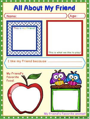 All About My Friend Printable in Color