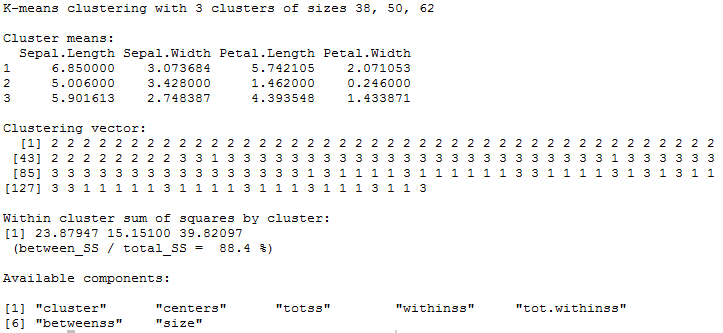 Blog [R]: Replicating PROC FASTCLUS in R using kmeans
