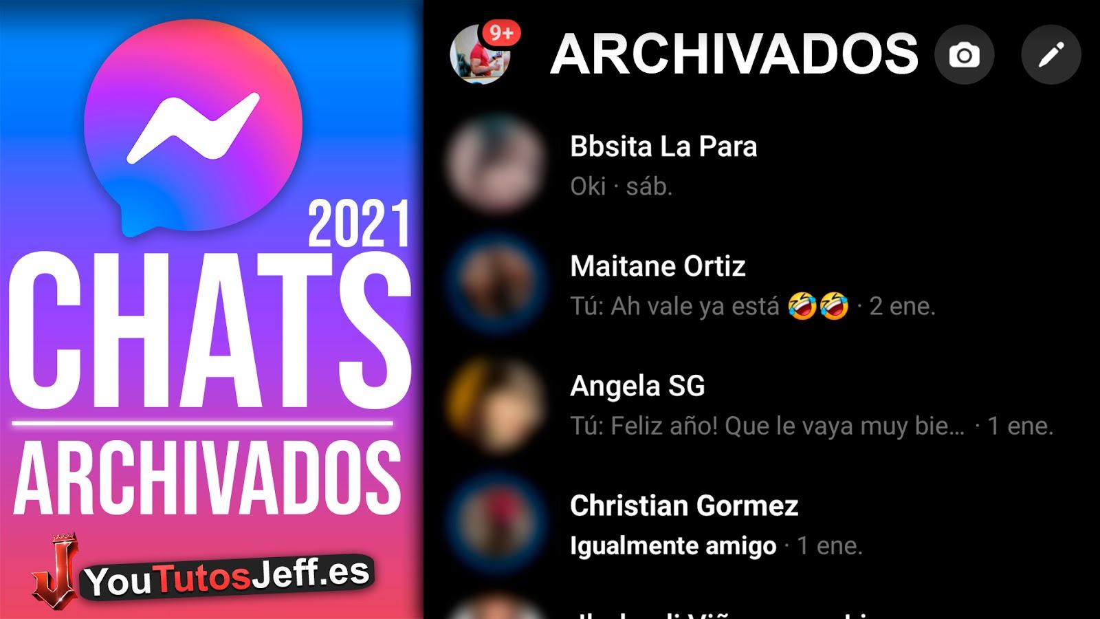 Archivar y Ver Mensajes Archivados Messenger Facebook 2021
