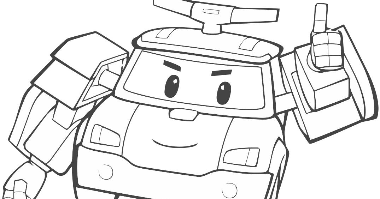 Gambar Mewarnai Robot Tobot