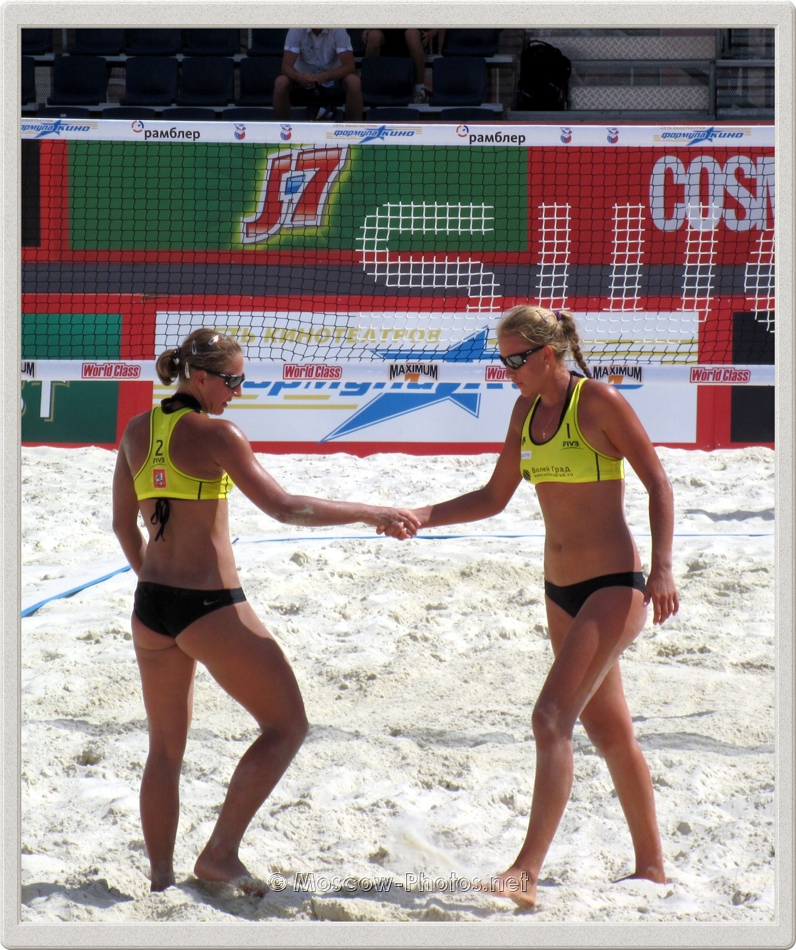 Beach Volleyball  Players Tatyana Mashkova & Irina Tsimbalova