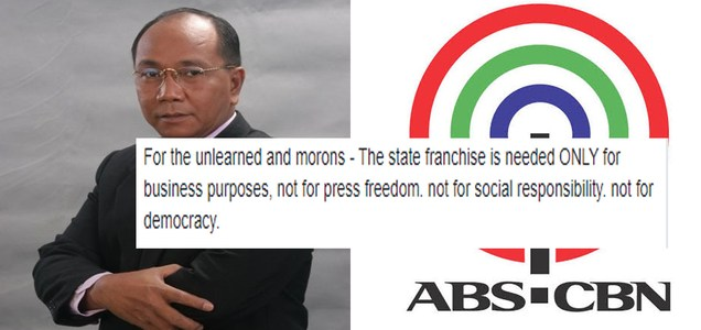 Retired broadcaster Jay Sonza says ABS-CBN does not care about press freedom but MONEY, says franchise needed ONLY for business purposes | PTN