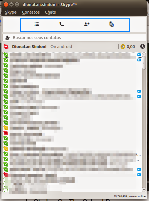 Nova interface do Skype Linux