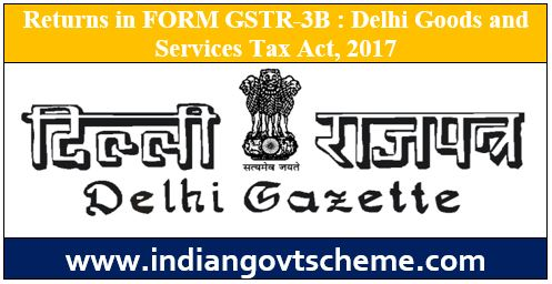 Returns in FORM GSTR-3B