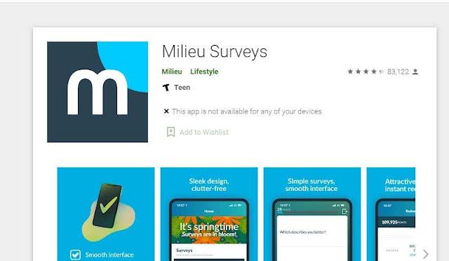 aplikasi penghasil uang milieu surveys