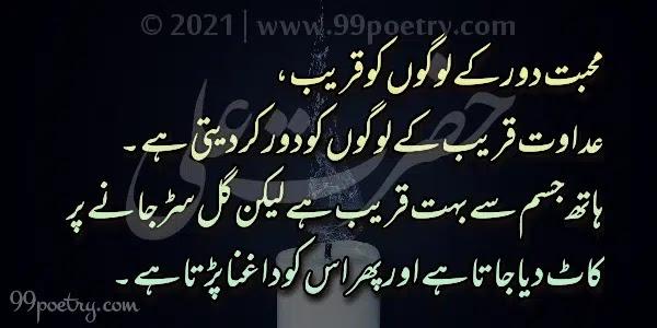 Mohabbat Daur Ke Logon Ko Qareeb-hazrat Ali Sayings