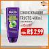 SUPER OFERTA - Condicionador Fructis 400ml Cachos Poderosos por apenas: R$2,99