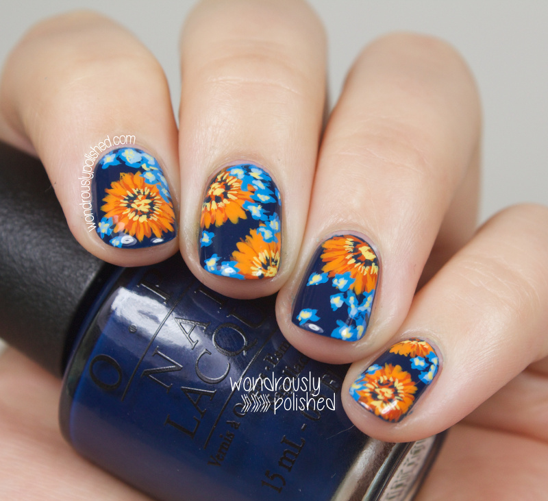 Wondrously Polished: NAGG - Day 5: Blue and Orange Daisy ...