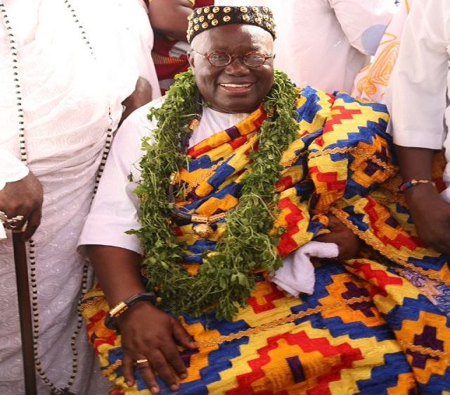 Akufo-Addo enstooled Chief at Jamestown