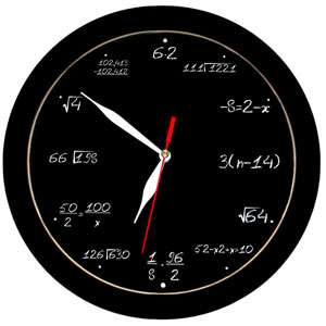 math equation wrist watch