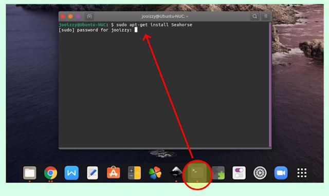Install seahorse via terminal linux