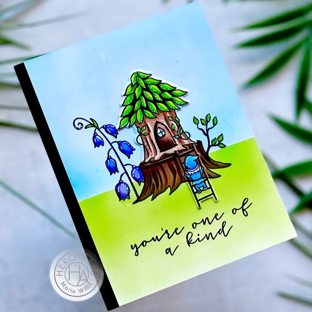 Cardbomb, Maria Willis, Hero Arts, My Monthly Hero July 2021, cards, cardmaking, stamps, stamping, paper, papercrafting, art, color, diy, handmade, handmade cards, gnomes, fairies,