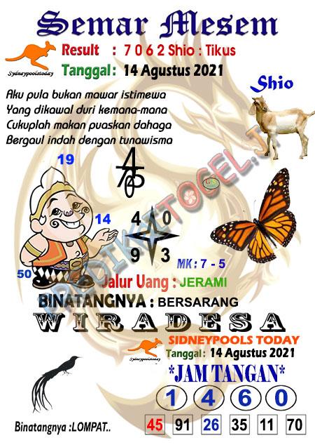 Syair Semar Mesem SDY Sabtu 14-Agt-2021