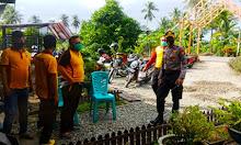 Kabag Ren Polres Sidrap Kunjungi Posko Balla Ewako di Desa Carawali