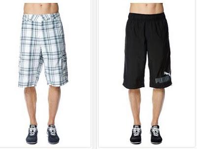 Pantalones shorts tipo bermudas para hombre