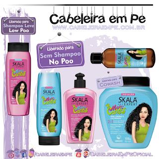 Shampoo (Low Poo) Condicionador, Gel Líquido, Óleo e Multifuncional (Liberados para No Poo) Mais Cachos - Skala
