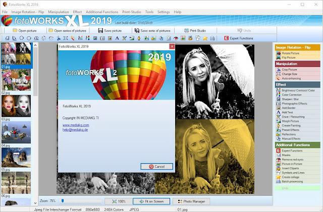Screenshot FotoWorks XL 2019 v19.0.5 Full Version